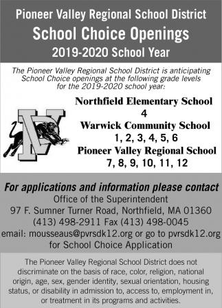 School Choice Openings