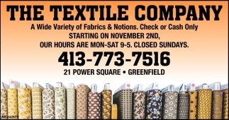 A Wide Variety of Fabrics & Notions, The Textile Company