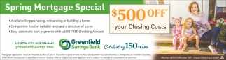 Spring Mortgage Special