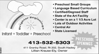 Preschool Small Groups