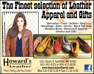 The Finest Selection Of Leather Apparel and Gift