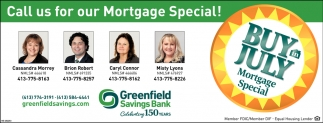 Call Us for Our Mortgage Special